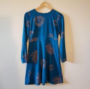 Loft Blue Sleeve Dress size 0P